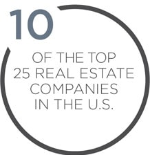 14 of the top 25 Real Estate Companies in the U.S.